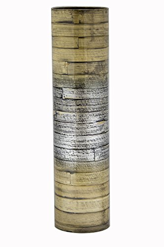 Collection Heather - Heather Ann Creations Noor Collection Modern Hand Crafted Bamboo Stovepipe Floor Vase, 24