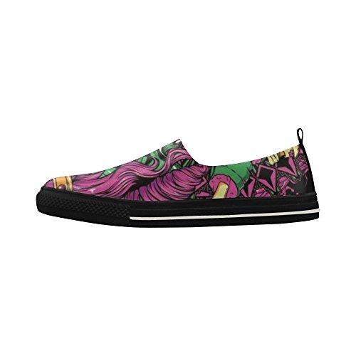 Sneaker Da Uomo In Microfibra Con Scialle Slip-on Personalizzato In Rosa