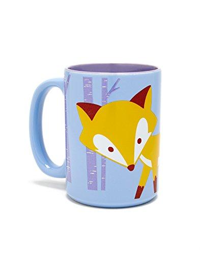 Kitsch'n Glam Llama Ceramic Coffee Mug- 16 Ounce (Purple, Fox) ()