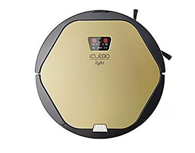 Yujin iClebo Vacuum Robot Cleaner with Mop for Dust and Pet Hair - Hard Floor Reservation Remote Control included black and gold two tone colors Robotic