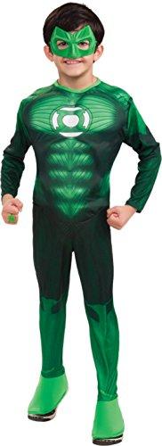 Boys Hal Jordan Muscle Deluxe Kids Child Fancy Dress Party Halloween Costume, S (4-6) by Rubie's