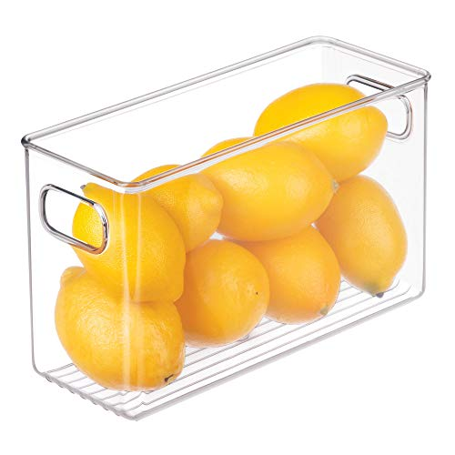 InterDesign Cabinet/Kitchen Binz Caja organizadora, organizador de cocina mediano en plástico, cajón para frigorífico...