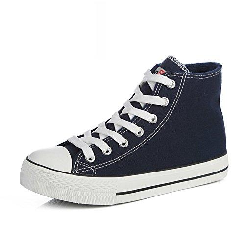 Zapatillas Primavera,Blanco Zapatos Flat-bottom,Estudiante Alta Clásica Pareja Zapatos,Zapatos Deportivos T