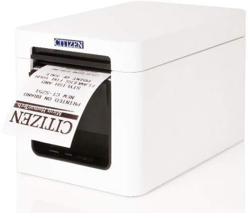 Citizen CT-S251, w/Serial Interface White case, CTS251XNEWX-S (White case, incl. Power Supply Unit, Power Cable, Receipt roll)