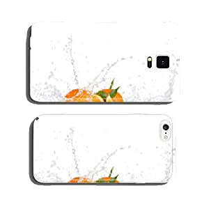 Oranges with water splashes on white background cell phone cover case iPhone6