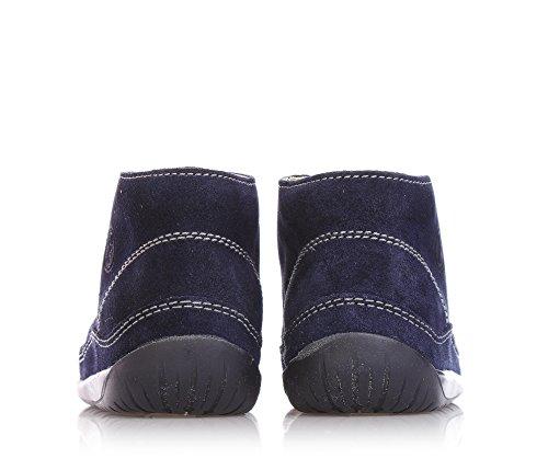 FALCOTTO - Blauer Schuh mit Schnürsenkeln, aus Wildleder, ideal zum Krabbeln und zum Laufen lernen, Jungen