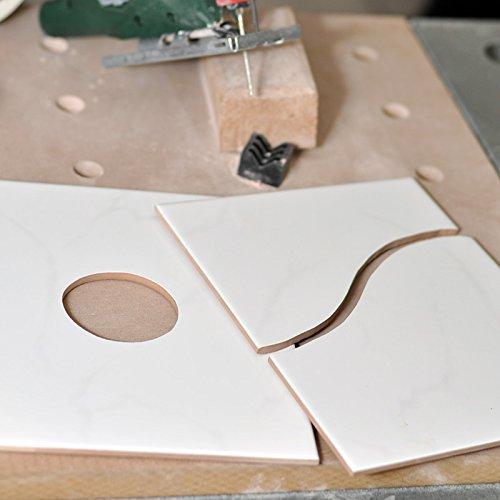 Fliesenschneider Diamant Fliesenfr/äser f/ür Stichs/ägen Nicht f/ür Bodenfliesen geeignet F/ür Wandfliesen aus Keramik bis 8mm Fliesenwerkzeug