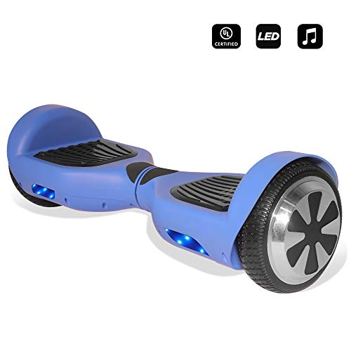 Cho Electric Self Balancing Dual Motors Scooter Hoverboard with Built-in Speaker and LED Lights - UL2272 Certified (-Blue) (Laptop Deals On Black Friday In Usa)