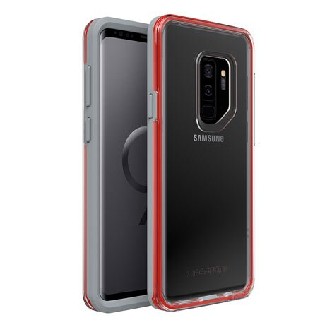Lifeproof SLAM SERIES DROPPROOF Case for Samsung Galaxy S9 Plus - Retail Packaging - LAVA CHASER (GRAY/RED)