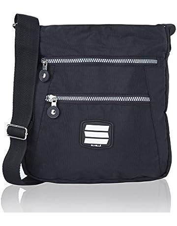 0f6b175c68 Suvelle Lightweight Go-Anywhere Travel Everyday Crossbody Bag Multi Pocket  Shoulder Handbag 20103
