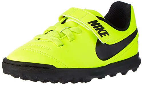 Nike Unisex-Kinder Tiempox Rio Iii (V) TF Fußballschuhe Gelb (Vert Volt/black-vert Volt)