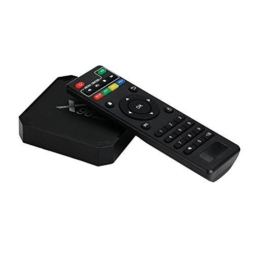 Cewaal TV Box,X96 Mini Android 7 1 Amlogic S905W 1GB+8GB Quad Core WiFi HD  4Kx2K Smart TV Box Med