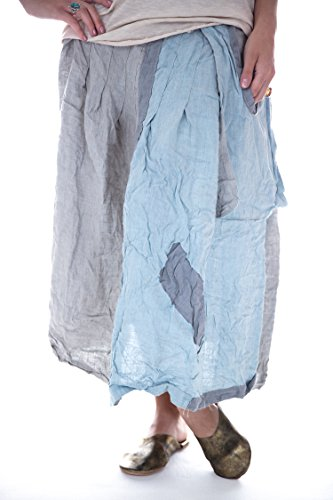 Magnolia Pearl Light Weight Linen Hettie Skirt With Flat Front, (Flat Front Linen Skirt)