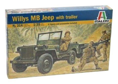 (Italeri Models Willys Jeep and Trailer Kit)