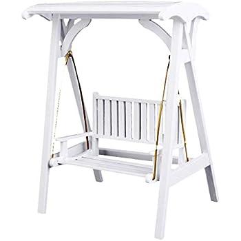 Vintage White Wooden Swing 1//12 Dollhouse Miniature Garden Porch Furniture