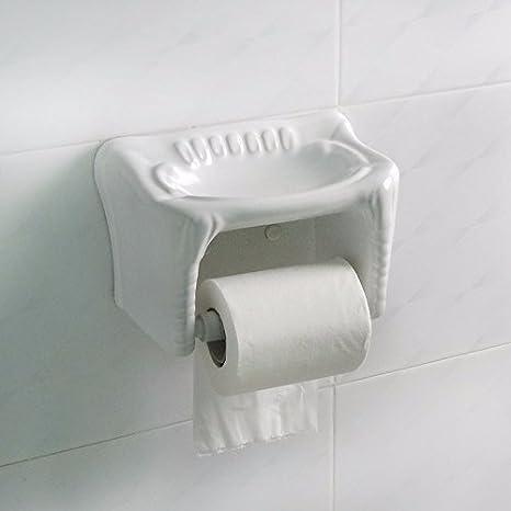 KHSKX Cerámica caja de papel higiénico, toalla de papel, papel higiénico, porta rollo