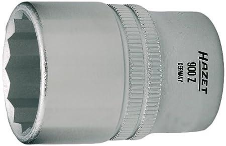 Hazet 900AZ-31//32 Douille carr/é creux 12,5 mm//profil traction /à 12 pans ext/érieurs Taille 31//32 longueur/ 44 mm