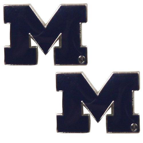 - NCAA Michigan Wolverines Team Logo Post Earrings