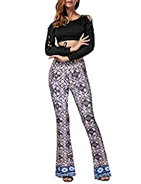 HyBrid & Company Womens Super Comfy Flowy Wide Leg Palazzo Pants Made in USA