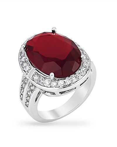 red cocktail ring - 4
