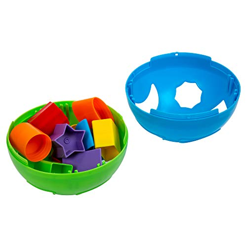 Tootsie Baby, Fun Shape Sorter, 6 inches, Blue, Green