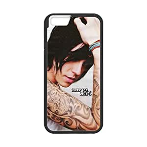 """ROBIN YAM Sleeping with Sirens Kellin Quinn Hard TPU Rubber Coated Phone Case Cover for iPhone 6 4.7"""" - iPhone 6 Cases - I6-01113"""