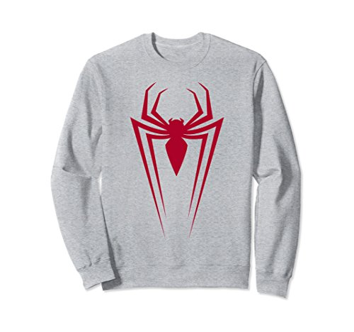 Unisex Marvel Spider-Man Icon Graphic Sweatshirt Medium Heather Grey