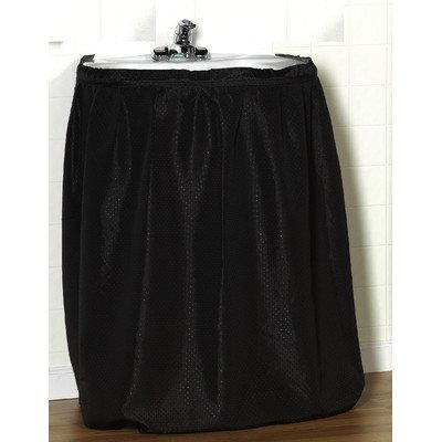 - Carnation Home Fashions Lauren Dobby Fabric Sink Skirt, 56-Inch by 32-Inch, Black