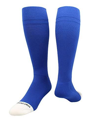 - MadSportsStuff Pro Line Over The Calf Baseball Socks (Royal, X-Large)