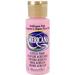 DecoArt Americana Acrylic Paint, 2-Ounce, Bubblegum Pink