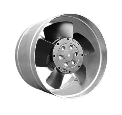 Pequeño ventilador metálico para horno, con canal distribuidor de aire caliente