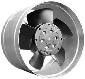Pequeño ventilador metálico para horno, con canal distribuidor de ...