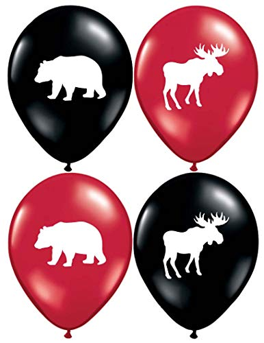 (Gypsy Jade's Moose and Bear Balloons - Great for Little Lumberjack and Flannel Themed Parties! 32 Big 12