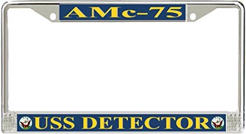 (MilitaryBest USS Detector AMc-75 License Plate Frame)
