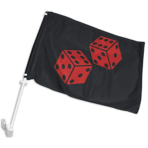 Mpppswjniqw Dice Clipart Car Flag - Single Side - Hooks onto Car Window