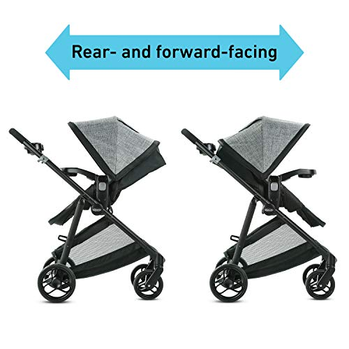 41K0qIsJF8L - Graco Modes Element Travel System, Includes Baby Stroller With Reversible Seat, Extra Storage, Child Tray And SnugRide 35 Lite LX Infant Car Seat, Canter