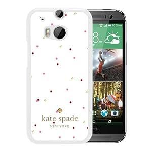 Unique Designed Kate Spade Cover Case For HTC ONE M8 White Phone Case 208