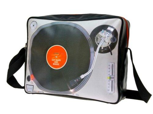 Silly Umhängetasche Shoulderbag Turn Table Mit Fotodruck 12800 Liter Grau (Mehrfarbig) SY101226