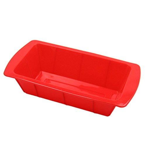 Allforhome(TM) Rectangle Tray Nonstick Silicone Dessert Cake Baking Candy Making Moulds Cake Pans Bread Loaf Toast Molds Multifunctional