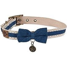 MuttNation Fueled by Miranda Lambert Denim Lace & Bow Custom Fit Dog Collar
