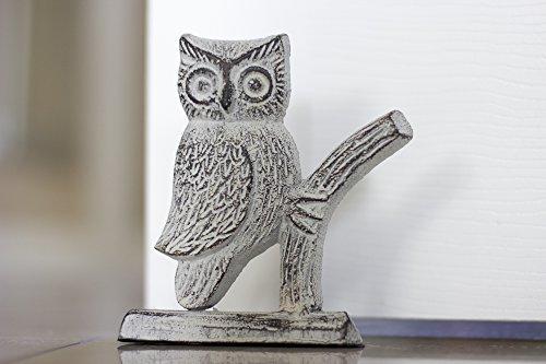 Cast Iron Owl Door Stop | Decorative Door Stopper Wedge | wi