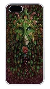 Green Woman Custom iPhone 5s/5 Case Cover Polycarbonate White,Original Design