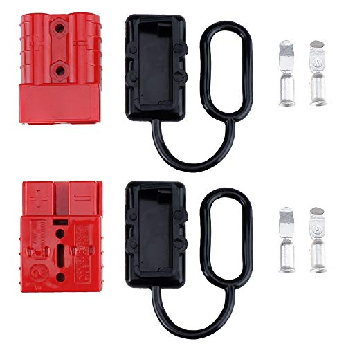 MUYI 6-10,12 AWG Battery Quick Connect/Disconnect Wire Harness Plug Connector 50A 12-36V DC
