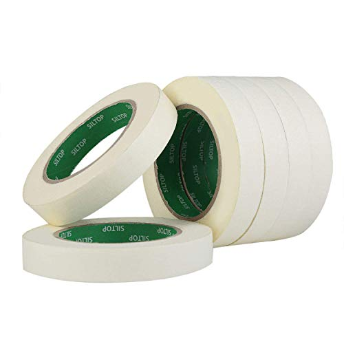 MEEDEN Painters Masking Tape Strong White Masking Tape, 6 Pack Wide Purpose Masking Tape for Art Watercolor Painting Color Coding Labeling Bundling Mounting, 0.75 Inch Wide, 60 Yard/Roll ()