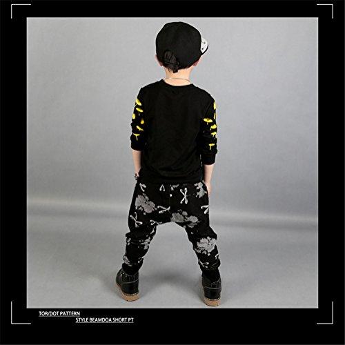 FTSUCQ Boys Pullover Sports Tracksuits Shirt Coat + Harem Pants