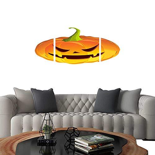 UHOO Prints Wall Art Paintingscartoon Pumpkin for The Holiday Happy Halloween Vector Illustration. Customizable Wall Stickers -