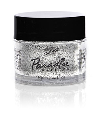 Mehron Makeup Paradise Glitter Face & Body Paint, Silver-