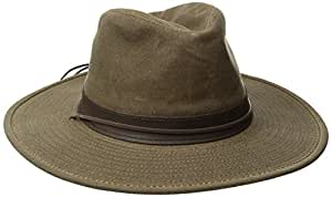 Henschel Walker, Distressed Waxed Cotton with Leather Band, Khaki, Medium