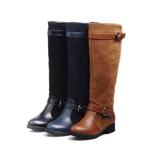 Pesca Boots Flat Knight Autunno Con Alti Da E Inverno Selvatici Stivali Brown Moda Stivali Boots Flat qnfP6qU