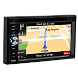 BOSS Audio Systems BN965BLC Car GPS Navigation and DVD Player - Double Din, Bluetooth Audio and Calling, 6.5 Inch LCD Touchscreen Monitor, MP3 CD DVD USB SD, Aux-in, AM FM Radio Receiver